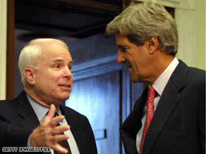 Sens. Kerry and McCain share an unusual history together in presidential politics.