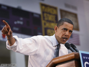 Sen. Obama campaigned in Marion, Indiana Saturday.