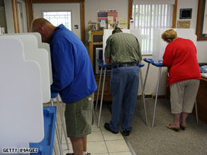 Voters cast their ballots in Indianapolis.