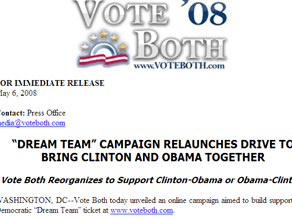 A former Clinton staffer is now pushing a unity ticket.