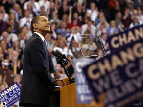 Obama claimed the Democratic presidential nomination Tuesday night in a long-time-coming victory.