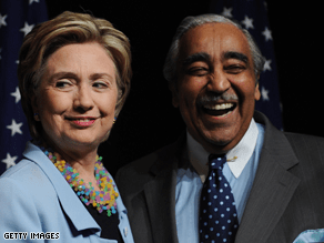 Rangel criticized Clinton's non-concession speech Wednesday.