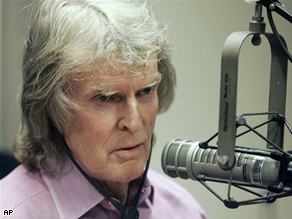 Don Imus appears on the Rev. Al Sharpton's radio show in New York, April 2007.