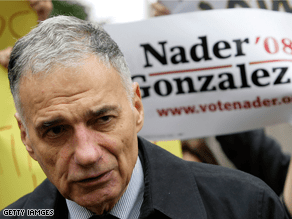 Nader is taking heat for his latest comments.