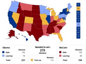 CNN's New Electoral College map.