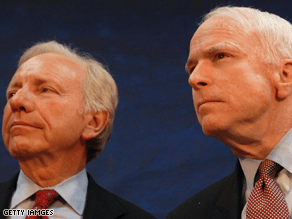 Lieberman is a backer of McCain.