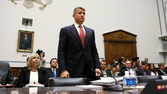 Erik Prince, chairman of Blackwater USA, at a House Oversight and Government Reform Committee hearing October 2, 2007.