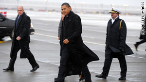 President Obama arrived in Copenhagen on Friday morning for the final day of climate change talks.