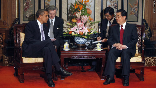 President Barack Obama with Chinese President Hu Jintao