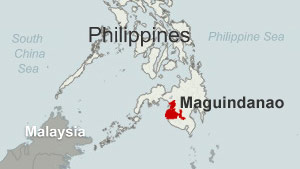 Maguindanao is a Muslim autonomous region outside the control of the central government.