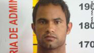 Flamengo goal keeper Bruno Fernandes Das Dores de Souza has been charged in the slaying of his former girlfriend.