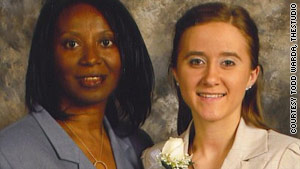 Regina Bush stands with her daughter, Stacey, whom she adopted after lengthy legal wrangling.