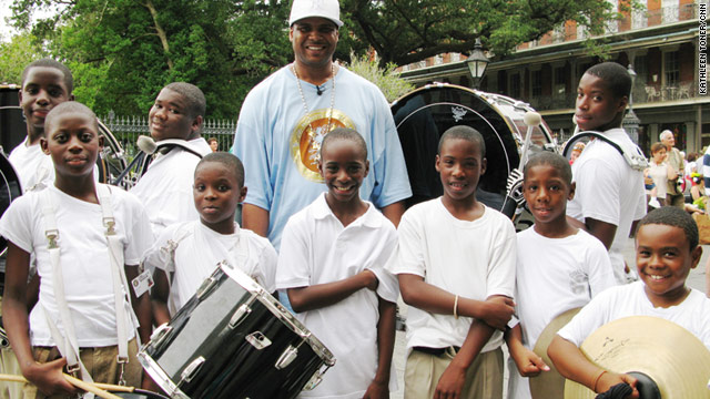 Derrick Tabb and The Roots of Music are taking donated instruments and giving them to children in the program.