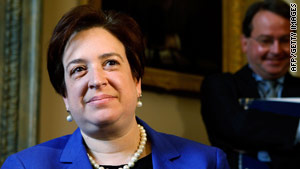 U.S. Supreme Court nominee and Solicitor General Elena Kagan meets with senators on May 12.