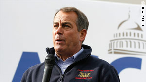 Rep. John Boehner will become speaker if Republicans take over the House in Tuesday's election.