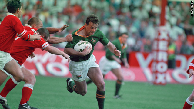 Ruben Kruger was named South African Player of the Year in 1995 -- the year the Springboks won the World Cup.