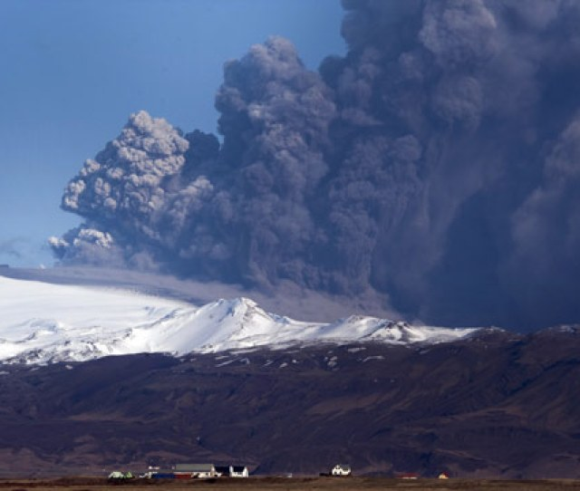 Volcanic Ash Spewing From Underneath Southern Icelands Eyjafjallajokull Glacier Has Shut Down Air Travel Across Europe