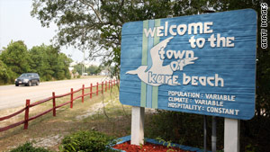 Kure Beach officials say they will crack down on people wearing  thongs in the seaside community.