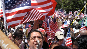 Opponents of Arizona's controversial immigration law rally in New  York in May.