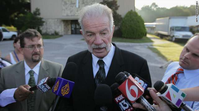 The Rev. Terry Jones faces reporters' questions Friday at the Dove World Outreach Center in Gainesville, Florida.