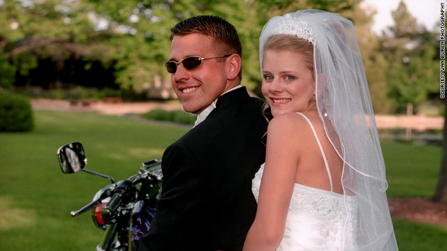 David and Tiffany Hartley were 21 when they married in 2002. She believes he died protecting her on Falcon Lake.