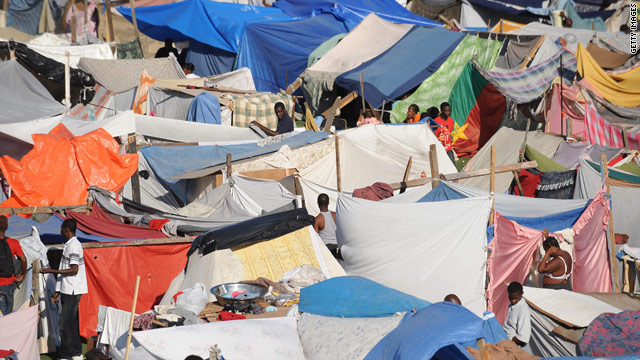 People living in the camps of Haiti are surviving with whatever they can acquire