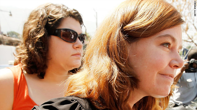 Charisa Coulter, left, and Laura Silsby are two of the missionaries facing charges in Haiti.