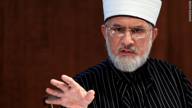 Tahir ul-Qadri, founder of the Minhaj-ul-Quran International,  announces his fatwa in London on Tuesday.