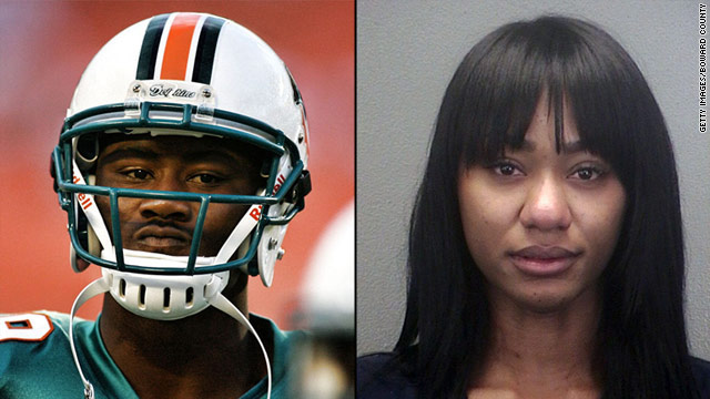 Brandon Marshall and his wife, Michi Nogami-Marshall, have been married for a year, police say.