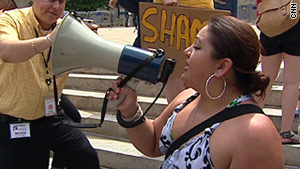 Georgia's immigration law has been the subject of several protests. Arguments in the case begin Monday in Atlanta.
