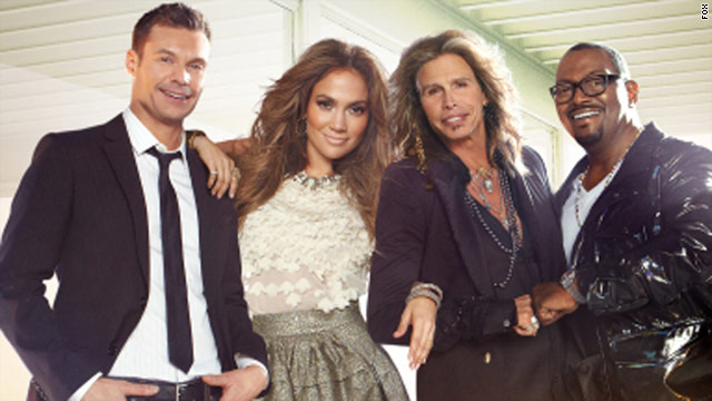 picture of jennifer lopez and american idol cast