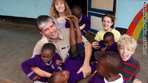 Doral Chenoweth III, his wife, Robin, and their children Cassie and Kurtis went on a church mission trip to Tanzania.