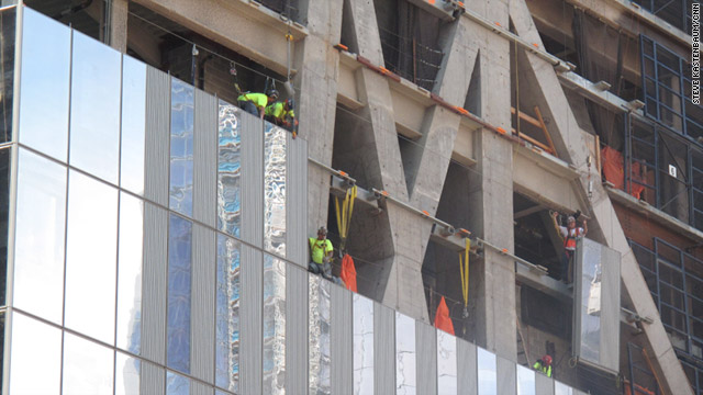 Workers at ground zero ready 911 memorial  CNNcom