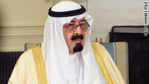 Saudi King Abdullah expressed support for Egyptian President Hosni Mubarak.