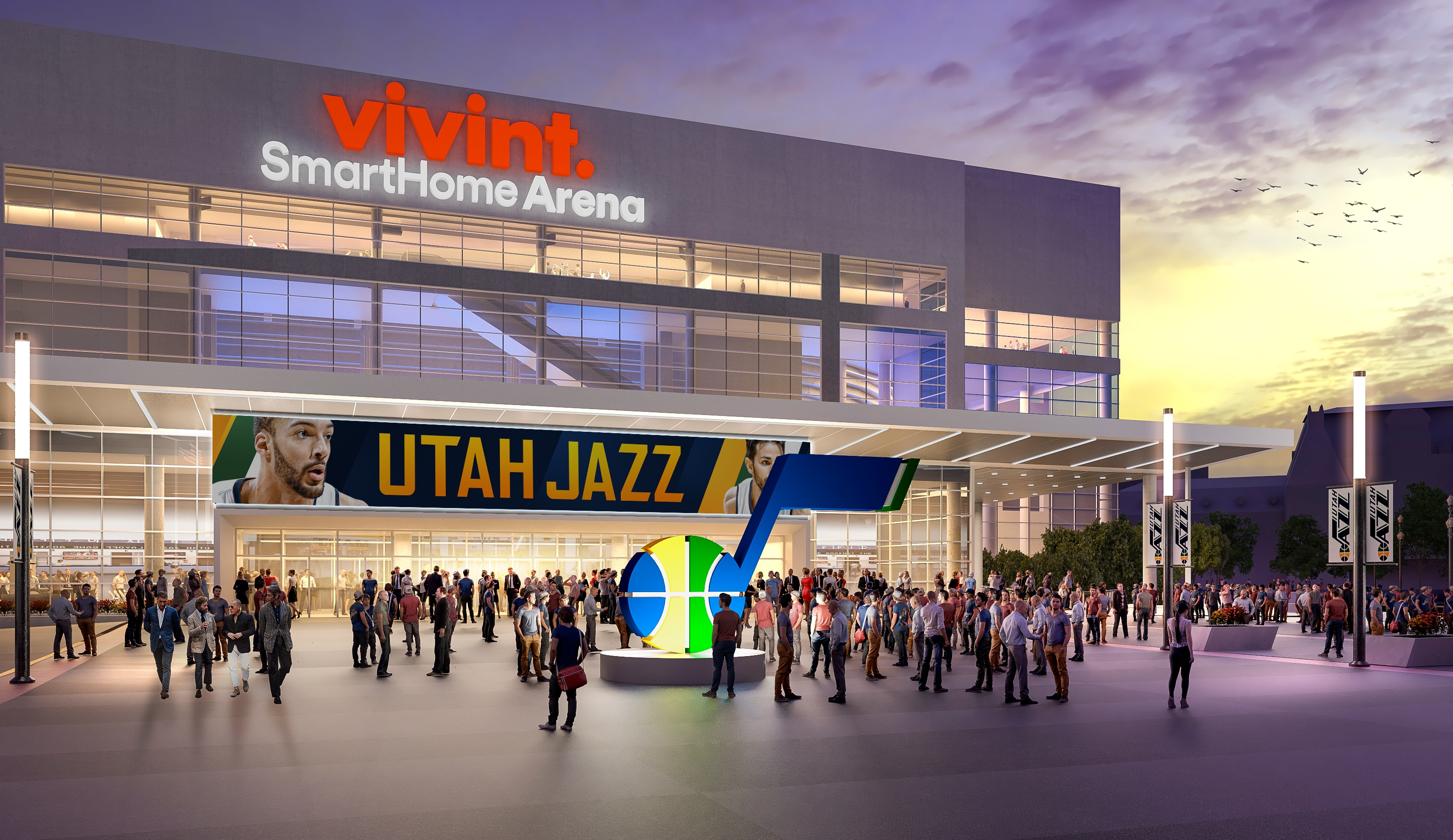 Arena Plaza to Feature 14Foot JNote  Utah Jazz