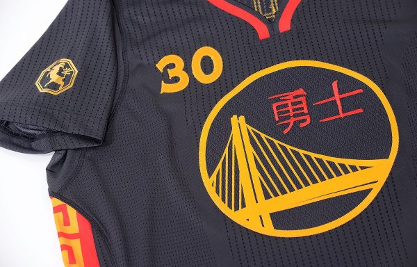 new style 2b7fd cf7de Chinse New Year Golden State Warriors Jersey Black - Year of ...