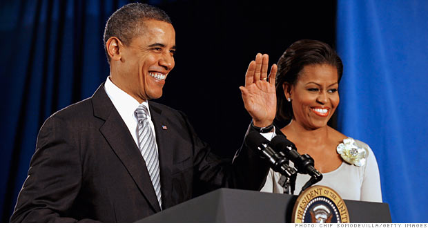OBAMAS TAKE A BIG PAY CUT