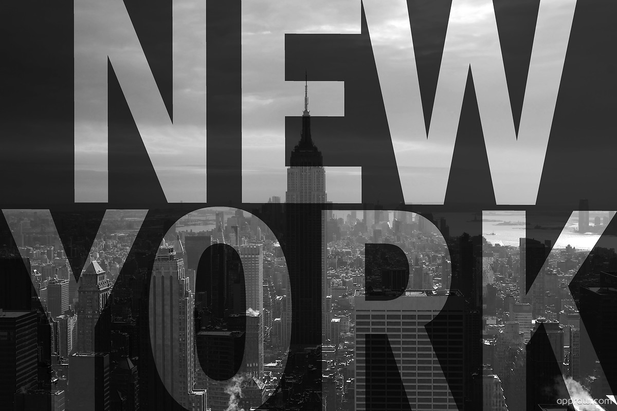 New York Letters Wallpaper Download