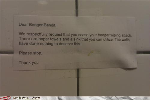 BOOGER BANDIT!
