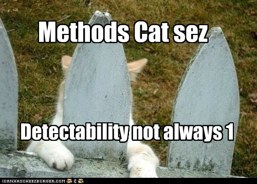 Methods Cat sez Detectabiliy not always 1