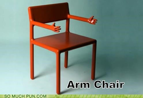 folding chair jokes 24 inch chairs puns funny pun pictures cheezburger arm armchair double meaning literalism 4994826240