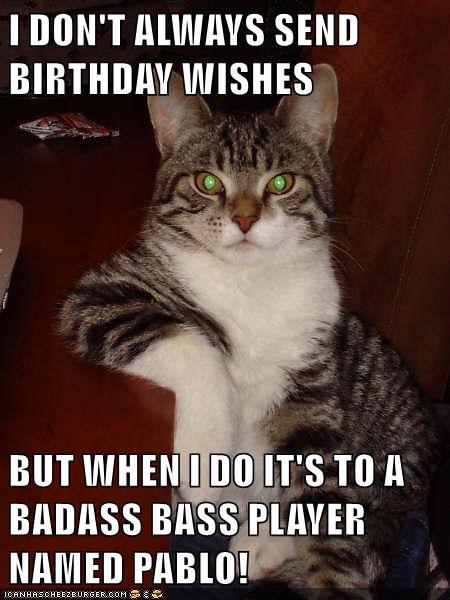 Bass Player Birthday Meme : player, birthday, Music, Instrument:, Player, Birthday, Wishes