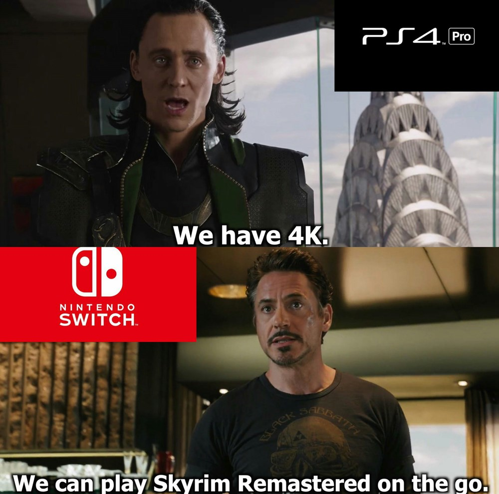 PS4 Pro V Nintendo Switch Video Games Video Game Memes