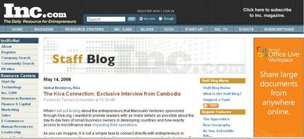 Inc.'s Staff Blog