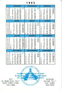 Kalender Tahun 1993 : kalender, tahun, Bûskalinder:, Local, Train, (Portegal), (Trains), Col:PT-1993-Train-003.02