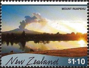 stamp mount ruapehu new