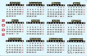 Calendario De Bolso Hotel Aquae Flavia Grande Hotel D