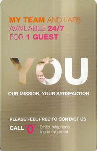 Hotel Key Card Novotel Ambassador Seoul Gangnam You