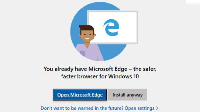 Browser warning © Ghacks