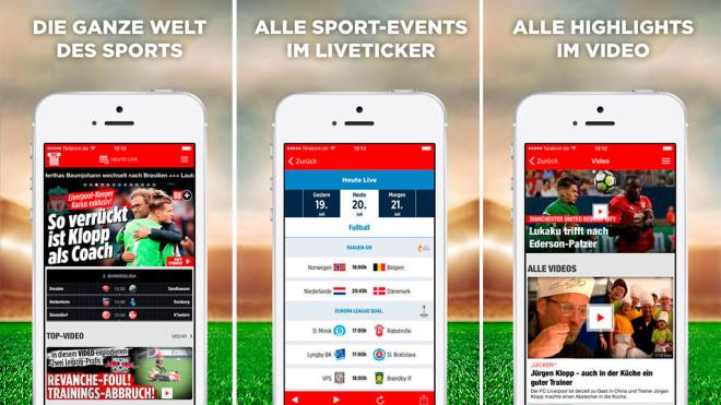 New: The Sport BILD App © Axel Springer SE
